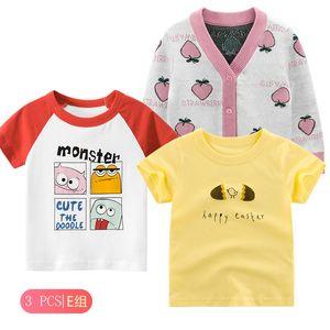 27 Kinder Herbst 3PCS nette Childerns Kleidung-Mädchen-T-Shirt Pullover und Langarm-Shirt Kinder-Anzügen für drei Jahreszeiten MÄDCHENTOP