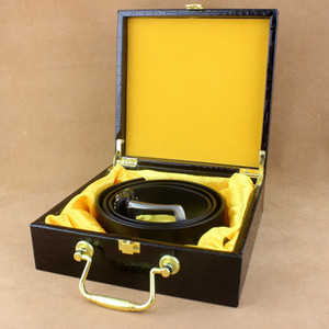 High-Grade Leather Belt Leather Black Crocodile Leather Quality Portable Gift Box Clamshell Box Spot Boutique