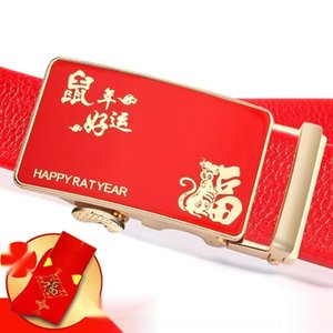 1BQwE Jahr der Ratte Glück kou yearbuckle Männer rot Junge Männer Gurtgurt lucky Jahr Red automaticZX-830