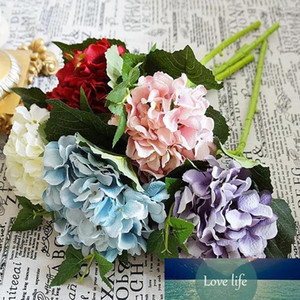 High Quality Silk Artificial Flowers Hydrangea Bride Bouquet Home Wedding Decoration Party Favors Accessories Valentines Day Gift
