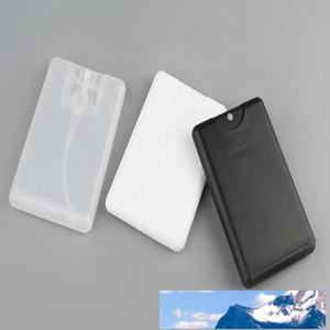 Promotion Leer 20ml Kunststoff Schwarz Kreditkarte Form-Taschen Parfümflasche Frauen kosmetischer Behälter Kleine Spray Verpackung