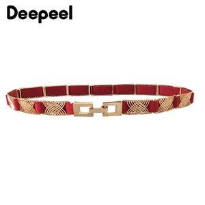 Deepeel 1pc 2cm * 72cm femmes minces en métal Cummerbund taille haute ceinture élastique réglable Métal décoratif pour Ceinturon DressCB636