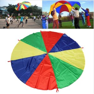 Wholesale- Childrens Play Rainbow Parachute Outdoor Game Exercise Sport Outdoor recreation game