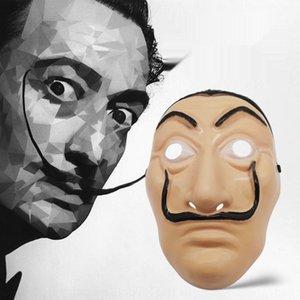 Spagnolo casa d'artista clothingcard Dali trucco prestazioni di plastica maschera costume di Halloween fornisce spagnolo casa d'artista clothingcard Dali pla