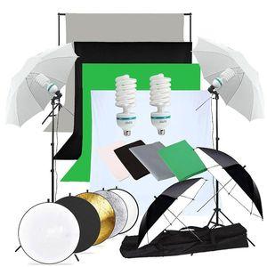 Abeststudio Photographie studio Backdrop fond doux Umbrella Kit d'éclairage + support + Support 60 cm 5 en 1 panneau réflecteur
