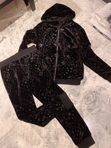 2020 Neue Marke Designer Buchstabedrucken Theren The Pullover Anzug SportkLeidung Anzug Herren-Jacke-Jacke Beiläufiges Толстовка Mit Kapuze Läu