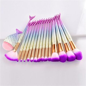 1Pcs Eyeshadow Contour Foundation Concealer Blush Mermaid Tail Professional Makeup Brushes Powder Eye Beauty Make up Tools