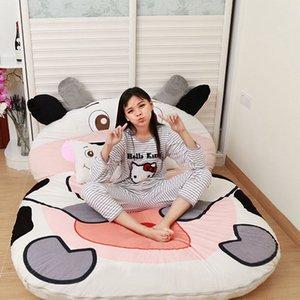 KKA8083 tek yatak büyük karikatür hayvan yatak sevimli yaratıcı yatak odası uyku mat geçici yatağa puf 9 stilleri peluş