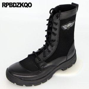 신발 짧은 지퍼 저렴한 전투 레이스 업 가을 사막 블랙 발목 플러스 사이즈 전술 메쉬 레트로 부츠 육군 남자 패치 워크