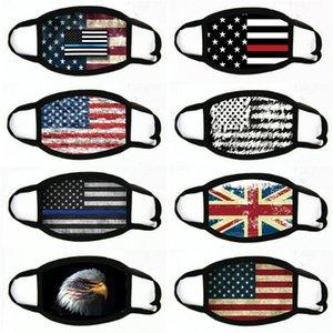 Manques de masques American Election Fournitures d'impression à la poussière Masque d'impression pour hommes Femmes Femmes Drapeau American Masque Masques 2020 # 332