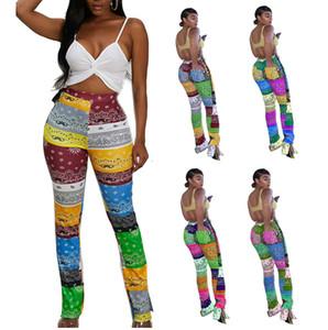 Женщины клеш Брюки Wide Leg Casual Плюс Размер Упругие Леггинсы высокой талией Брюки клеш драпированные Jogger Брюки тренировочные брюки 8920
