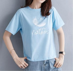 Cotton short sleeved T-shirt for summer wear with loose short sleeves for women 2020 new half sleeved shirts for summer students