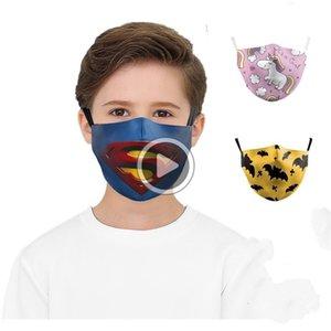 Barato DHL Crianças Imprimir Fa Máscara sunproof Dustproof Cycling Sports Boca er Máscaras respirável er lavável