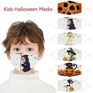 Moda Halloween Party Masks Pumpkin Witch Trick o Trate Kids Face Mask Cotton Outdoor Polvo a prueba de polvo Diseñador FY9186