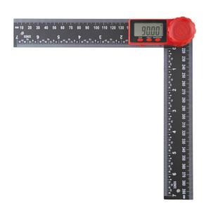 Dijital Görüntü Açısı Cetvel İki-bir-arada Plastik Açı Cetvel Açıölçer Dijital Kumpas Siyah Sürmeli Kaliper Seviye 300mm
