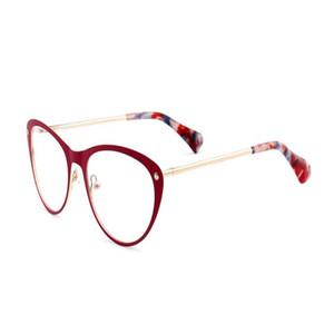 MONGOTEN женщины ретро моды сплав Full Rim Cat Eye Design Предписание объектив очки Антибликовая Марка Reading очки