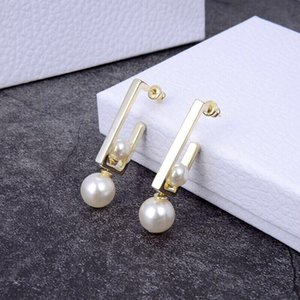 Hot Sale High quality Women's new 925 silver square pearl earrings Sterling silver earrings It has countless ways to wear earring jewelry