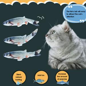 Simülasyon elektrik balık oyuncak Simülasyon balık Pet kedi oyuncakları Halloween parodi oyuncaklar Yaratıcı pet hediyeler 7 stilleri