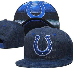 Indianapolis IND Snapback Caps Hombres Mujeres Fútbol casquillo de la manera del equipo mezcla de los sombreros orden del fósforo de todas las tapas de calidad superior a1 ^