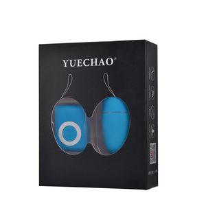 YUECHAO impermeabile 20 costi MP3 telecomando wireless vibrazione dell'uovo di salto del vibratore della pallottola dei giocattoli del sesso per la donna Trasporto goccia