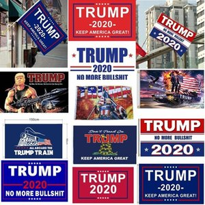 DHL 3-7 días Bandera Trump colgantes 90 * 150cm Trump Mantenga Imprimir Latina Grandes pancartas 3x5ft digital Donald Trump 2020 Bandera de 20 colores Decoración Banner