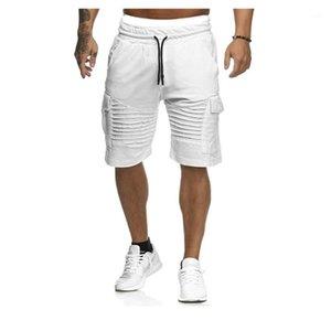 Comprimento Designer Sólidos Pants Cor Mens short stacked Mens Shorts Verão Casual joelho Militar carga Shorts