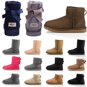 Nuove donne stivali da neve moda avvio inverno classico mini caviglia corto signore ragazze womens booties triple nero castagna blu navy booties blu