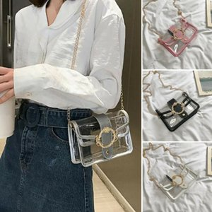 NoEnName-Null Womens Transparent Clear Jelly Handbag Tote Messenger Bag Purse Crossbody Bags