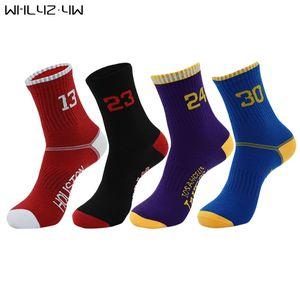 5 Paare / Los Super Star Basketball Socken Elite Thick Sportsocken Anti-Rutsch-Durable Skateboard Handtuch Bottom Stocking