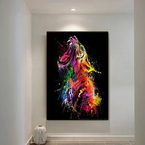 Canvas Painting Wall Posters & Prints ColorTiger Graffiti HD Wall Art Pictures For Living Room Decoration Dining Restaurant Hotel Home Decor