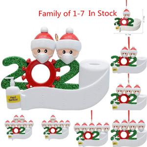 6-10 Gün Teslim 2020 Karantina Noel Doğum Parti Dekorasyon Hediyelik Ürün Kişiselleştirilmiş PVC Ailesi 4 Süsleme salgınının