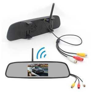 Rearview Mirror Dvr 4.3-inch Rear View Mirror + Reversing Camera Wireless Car Reversing Camera Automobile Video Recorder