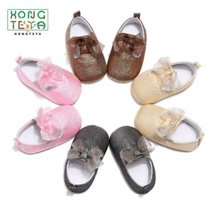 Neonate della principessa Shoes Lace Bowknot mocassino scarpe carino infantile morbida inferiore Primi camminatori Presepe