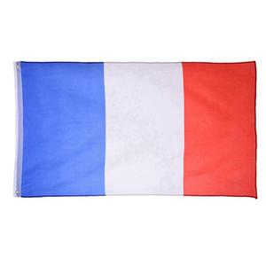 Fransa Bayrağı 150x90cm özel bayrak afiş ulusal bayraklar Süper-Poly 3ftx5ft 100pcs Kapalı / Açık Fransız FLAG Ülke Banner asılı