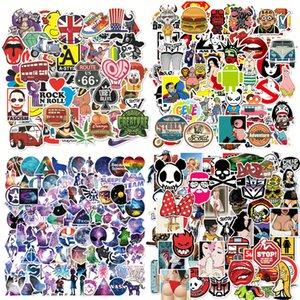 هالوين الرسوم المتحركة الطازجة الصغيرة سيارة حقيبة ملصقات سوبر ماء الكتابة على الجدران حقيبة السيارة ملصقات أزياء 100pcs / lot Partten