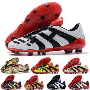 2021 Erkek Futbol Cleats Predator Accelerator Elektrik FG Deri Ayakkabı Chuteiras Scarpe Da Kalsiyo Futbol Çizmeler Ucuz Orijinal
