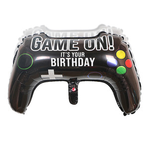 NEW Big Black Gamepad Boy Inflate Toy GAME ON Foil Balloon Happy Birthday Decoration Game Match Props Gaming Tool Ball 50pcs