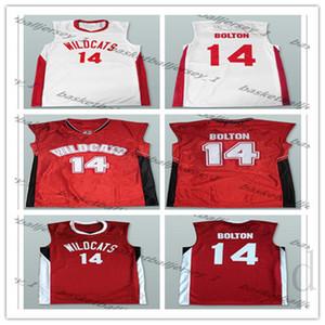 Fait sur mesure Zac Efron Troy Bolton 14 East High Wildcats école de basket-ball Accueil Maillots homme femmes jeunes de-5XL un numéro de nom