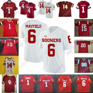2020 personalizzato Oklahoma Sooners Jersey Football NCAA College Spencer Rattler Seth McGowan Marcus Major Marvin Mims Trevon occidentale Theo Wease