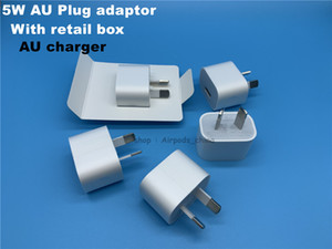 DHL 100pcs High quality A+++ Quality 5V 1A 5W AU Plug adaptor USB AC Power Charger Wall Adapter AU charger With retail box