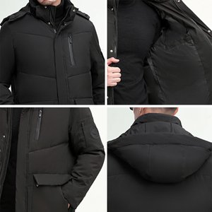 new style winter middle age men casual warm hooded Cotton coats luxury high quality thick long down Cotton jacket men 200919