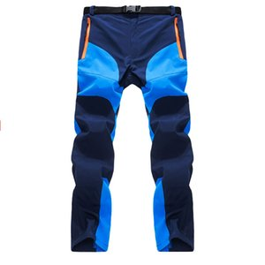 Mens Summer Quick Dry Pants Two Colors Patchworkk Zipper Pocket Breathable Hiking Camping Trekking Trousers cargo pants men
