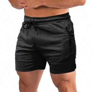 Men Fitness Shorts Quick Drying Gym Beach Shorts Summer Sport Workout Running Short Pants with Pockets short fitness homme ADch#