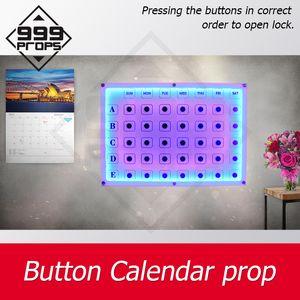 en direct escape room props prop calendrier bouton pression sur le bouton dans le bon ordre pour maglock ouvert