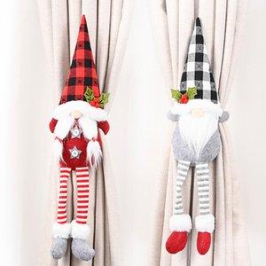 15 Art-Weihnachts Vorhang-Wölbung Tieback Sankt-Schneemann-Hindernis Fastener Buckle Clamp Dekoration Weihnachtsschmuck OOA9699
