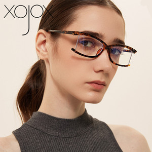 XojoX Bule Light Glasses Frames Men Rimless Computer Spectacle Frame Luxury Women Optical Eyewear