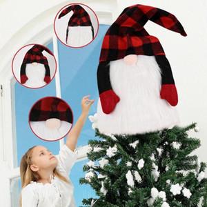 Nueva 8/28 pulgadas Árbol de Navidad Adornos de Navidad de Santa Topper Gnomos felpa escandinava Decoración Decoración