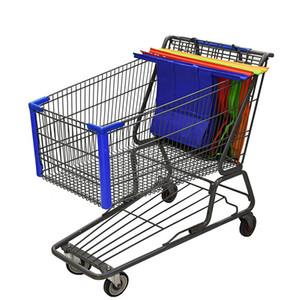 쇼핑 카트 트롤리 슈퍼마켓 쇼핑 가방 식료품을 잡고 쇼핑 가방 접이식 토트 친환경 재사용 슈퍼마켓 가방 4 개 / 200,919 설정