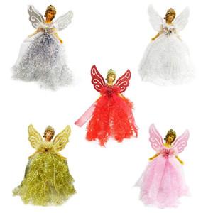Christmas Angel Sparkle Doll Hanging Xmas Tree Pendenti ornamenti Home Decor
