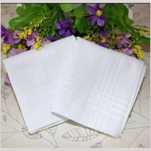 Partido 34cm 100% algodón satinado tabla masculina Pañuelo Pañuelo cuadrado de Remolcadores más blanca 34cm Hombres Navidad EEA470 regalo